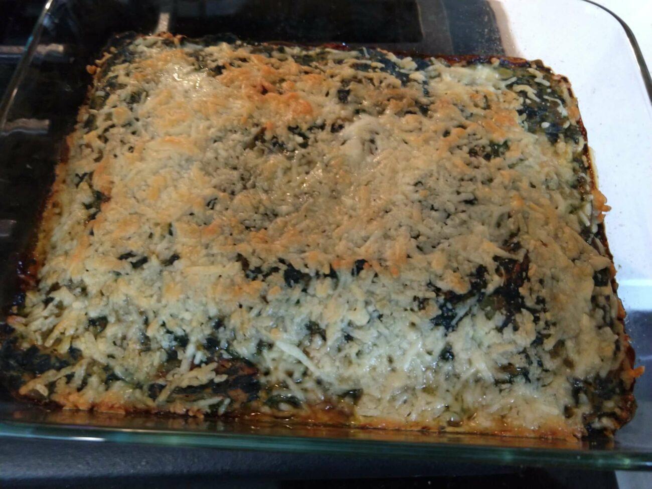 Italian Meatball & Spinach Bake