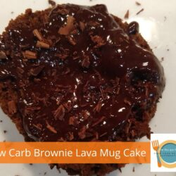 Low Carb Brownie Lava Mug Cake